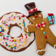 Gingerbread man and cookie - Stock Photo