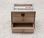 Antique wooden box — Stock Photo