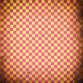 Red checked grunge background — Photo