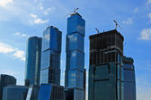Moscow City Skyscrapers Under Conctruction — Stock Photo