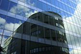 Office building windows reflections — Stok fotoğraf