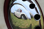 Reflection in hubcap — Stock Photo