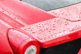 Droplets on a sport car — Stock Photo