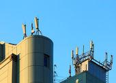антенны на крыше — Стоковое фото