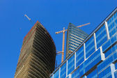 Business buildings construction — Stock Photo