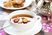 Tea with Rose — Stock Photo