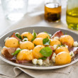 Stock Photo: Cantaloupe,Mozzarel land Prosciutto Antipasti