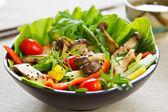 Grilled Mushroom salad — Stock Photo