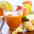Carrot with Apple and Ginger juice — Stock Photo #40864053
