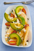 Avocado with Melon and Feta salad — Stock Photo