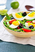 Green bean with Snap pea and egg salad — Stock Photo