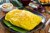 Stir fried Bean in omelette — Stock Photo