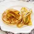 Stock Photo: Pancake with banana