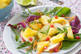 Pineapple and apple salad — Stock Photo
