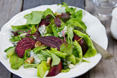 Roasted Beetroot with Blue cheese salad — Stock Photo