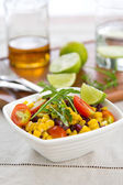Sweetcorn and rocket salad — Stock Photo