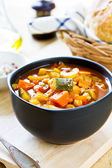 Vegetables soup with chickpea — Stock Photo