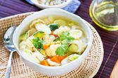 Vegetables soup with pasta — Stock Photo