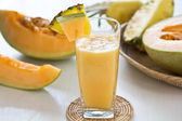 Melon and pineapple smoothie — Foto Stock