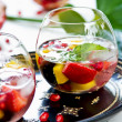 Stock Photo: Mango and Pomegranate sangria