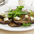 Grilled aubergine with feta and rocket salad — Stock Photo
