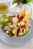 Apple,corn and Melon salad — Stock Photo