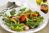 Avocado and Grilled vegetables salad — Stock Photo