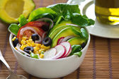 Avocado and sweetcorn salad — Stock Photo