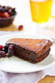 Chocolate truffle torte — Stock Photo
