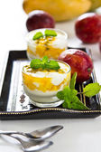 Mango and Passion fruit dessert — Foto Stock