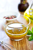 Homemade salad dressing — Foto de Stock