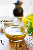 Homemade salad dressing — Stock Photo
