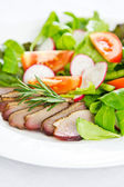 Smoked Duck Salad — Stock Photo