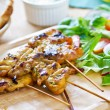 Grilled chicken skewer with salad — Stock Photo #41246121