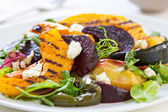 Grilled vegetables with feta cheese salad — Stock Photo