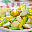 Potato with Herb and Asparagus salad — Stock Photo #41292921