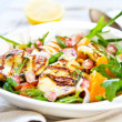 Halloumi with Orange and Rocket salad — Stock Photo