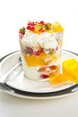 Fruits yogurt — Stock Photo