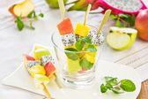 Fruits salad skewer — Stock Photo