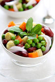 Beans and peas salad — Stock Photo