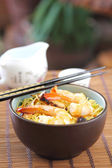 Stir fried Noodle with prawn — Stock Photo