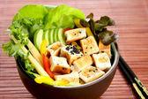 Ensalada de queso de soja — Foto de Stock