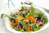 Rocket with orange and beetroot salad — Stock Photo