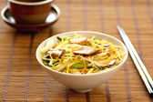 Stir fried Noodle with mushroom — Stock Photo
