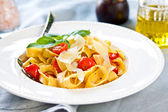 Tagliatelle with tomato  — Stock fotografie