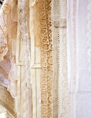 Close up Handmade Lace in Burano — Stock Photo