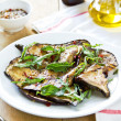 Grilled Aubergine salad with Rocket — Stock Photo #46945461