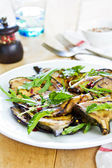 Grilled Aubergine salad with Rocket — Foto Stock