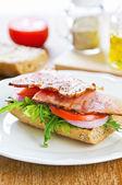 Grilled Ham sandwich — Stock Photo