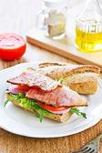 Grillad skinka sandwich — Stockfoto